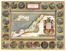 Asia and Holy Land Map By Abraham Ortelius