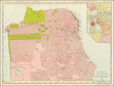 Rand-McNally New Commercial Atlas Map of City and County of  San Francisco By William Rand  &  Andrew McNally