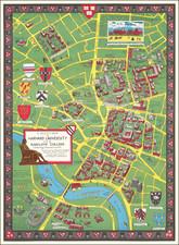 Pictorial Maps and Boston Map By Alva Scott Garfield