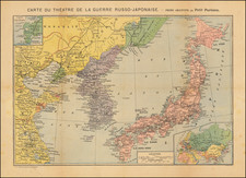 China, Japan, Korea and Russia in Asia Map By A Levy