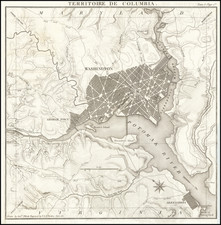 Washington, D.C. Map By Pierre Antoine Tardieu