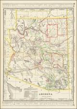 Arizona Map By George F. Cram