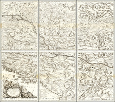Hungary, Romania, Balkans, Croatia & Slovenia, Bosnia & Herzegovina, Serbia, Albania, Kosovo, Macedonia and Bulgaria Map By Vincenzo Maria Coronelli