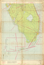 Florida and World War II Map By U.S. Coast & Geodetic Survey