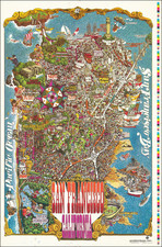 Pictorial Maps and San Francisco & Bay Area Map By Henry HInton