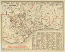 California and Other California Cities Map By Franklin P. Borgnis