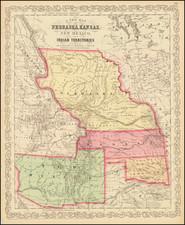 Midwest, Minnesota, Plains, Kansas, Nebraska, North Dakota, South Dakota, Oklahoma & Indian Territory, Southwest, Colorado, New Mexico, Rocky Mountains, Colorado, Montana and Wyoming Map By Charles Desilver