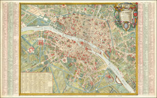 Paris Map By Jean Lattré