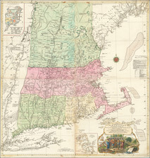 New England, Boston and American Revolution Map By Tobias Conrad Lotter / Bradock Mead