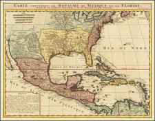 United States, South, Texas, Midwest and Southwest Map By Henri Chatelain