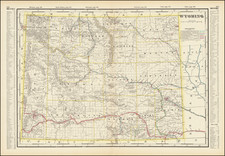 Wyoming Map By George F. Cram