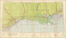 Louisiana, Mississippi and Texas Map By U.S. Coast & Geodetic Survey