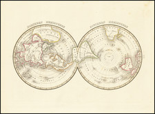 World, Northern Hemisphere, Southern Hemisphere and Polar Maps Map By Thomas Gamaliel Bradford