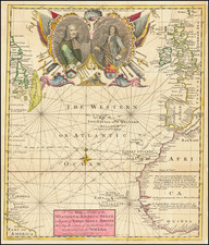 Atlantic Ocean Map By Gentleman's Magazine