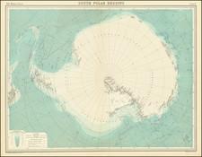 South Polar Regions By John Bartholomew / Times Atlas