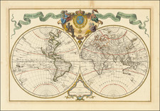 Mappmonde a l'usage du Roy . . .  By Johannes Covens  &  Cornelis Mortier