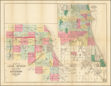Illinois and Chicago Map By Rufus Blanchard