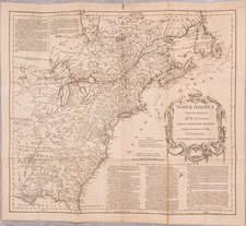 United States and Rare Books Map By Thomas Jefferys / William Douglass