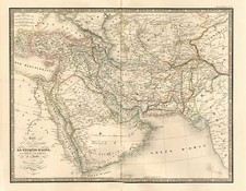 Asia, Central Asia & Caucasus, Middle East and Turkey & Asia Minor Map By J. Andriveau-Goujon