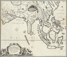 Asia, China, India, Southeast Asia, Philippines and Indonesia Map By Athanasius Kircher