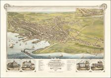 Massachusetts Map By J.J. Stoner