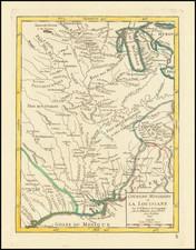 South, Texas, Midwest and Plains Map By Gilles Robert de Vaugondy