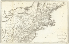 New England, New York State and Mid-Atlantic Map By Francois A.F. La Rochefoucault-Liancourt