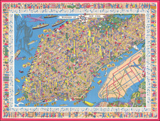 New York City and Pictorial Maps Map By Nils Hansell
