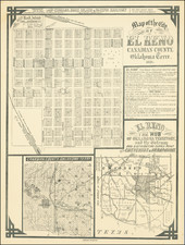 Oklahoma & Indian Territory Map By Rock Island Land and Debenture Co.
