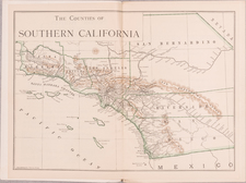 California, Los Angeles, San Diego and Other California Cities Map By Harry Ellington Brook