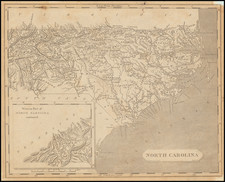North Carolina Map By Aaron Arrowsmith  &  Samuel Lewis