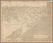 North Carolina Map By Aaron Arrowsmith  &  Samuel Lewis