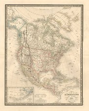 North America Map By J. Andriveau-Goujon