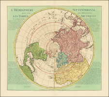 Northern Hemisphere and Polar Maps Map By Johannes Covens  &  Cornelis Mortier