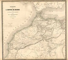 Africa and North Africa Map By J. Andriveau-Goujon