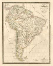 South America Map By J. Andriveau-Goujon