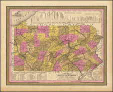 Pennsylvania Map By Samuel Augustus Mitchell