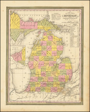 Michigan Map By Henry Schenk Tanner