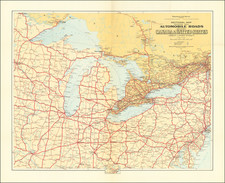 New York State, Pennsylvania, Illinois, Indiana, Ohio, Michigan, Wisconsin and Eastern Canada Map By Canadian Department of the Interior