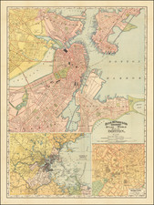 Boston Map By Rand McNally & Company