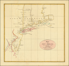 New England, Connecticut, Massachusetts, Rhode Island, New York State and New Jersey Map By Roelof Gabriel Bennet  &  Jacobus Van Wijk