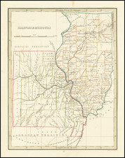 Illinois and Missouri Map By Thomas Gamaliel Bradford