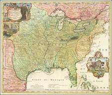 Amplissimae Regionis Mississipi Seu Provinciae Ludovicianae A R.P. Ludovico Hennepin Francisc Miss In America Septentrionali Anno 1687  . . . By Johann Baptist Homann