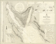 Middle East, Arabian Peninsula and Egypt Map By British Admiralty