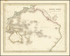 Pacific Ocean and Pacific Map By Thomas Gamaliel Bradford