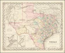 Texas By Joseph Hutchins Colton