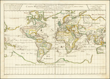World and California as an Island Map By Pierre Du Val