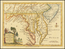 Mid-Atlantic, New Jersey, Pennsylvania, Maryland and Delaware Map By London Magazine