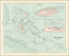 Bahamas Map By Edward Stanford