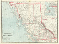British Columbia Map By George F. Cram